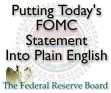 Putting the FOMC statement in plain English